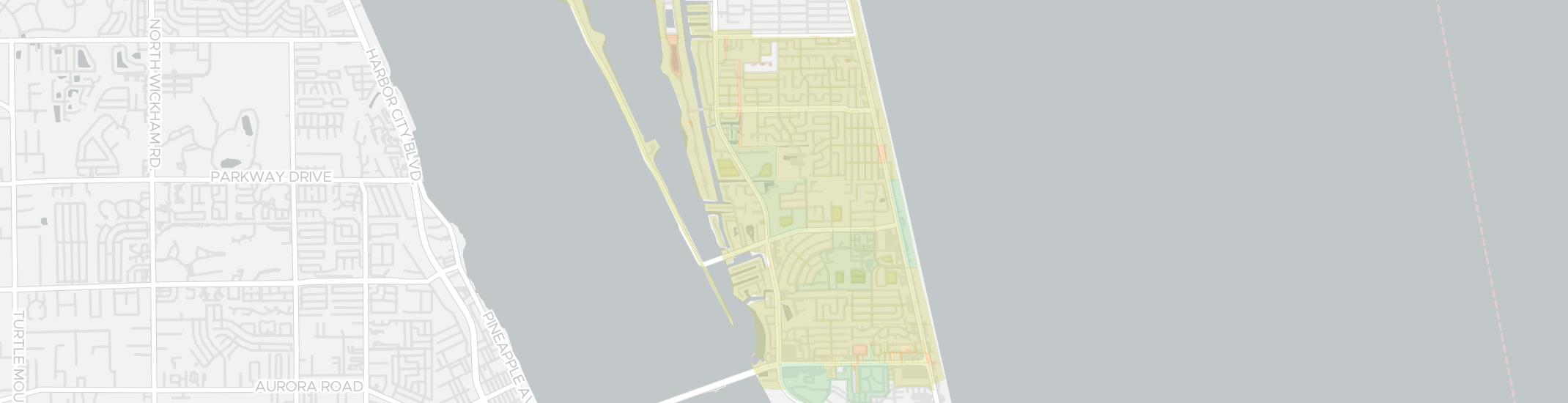 Indian Harbour Beach Internet Competition Map. Click for interactive map.