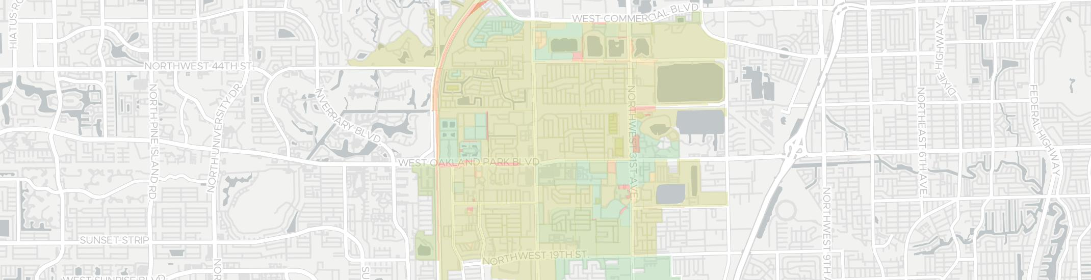Lauderdale Lakes Internet Competition Map. Click for interactive map.