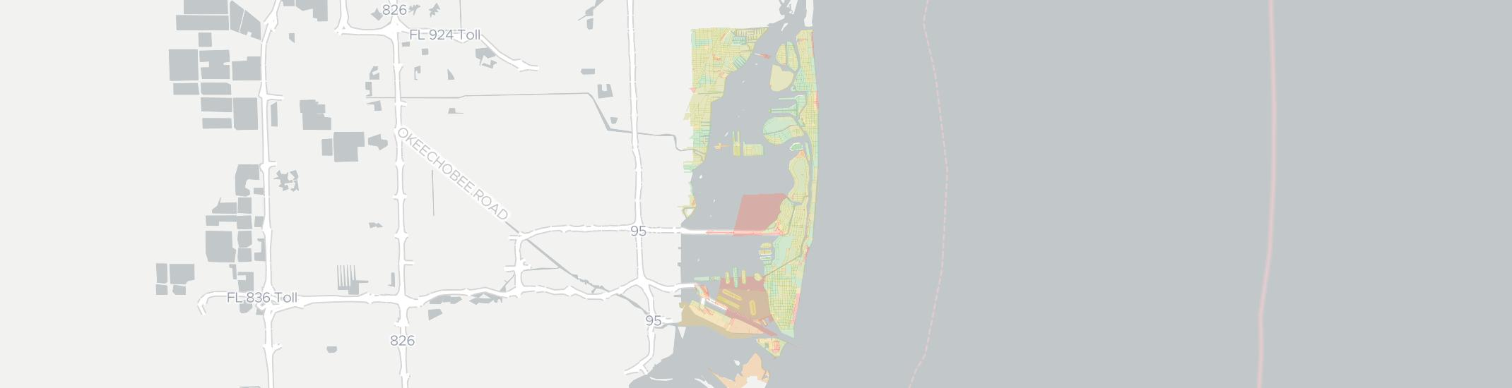 Miami Beach Internet Competition Map. Click for interactive map.