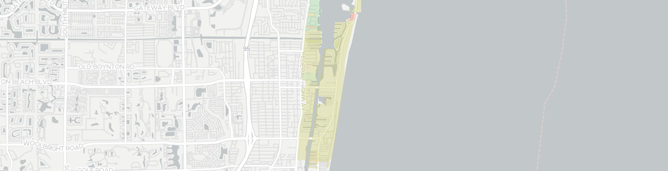 Ocean Ridge Internet Competition Map. Click for interactive map.