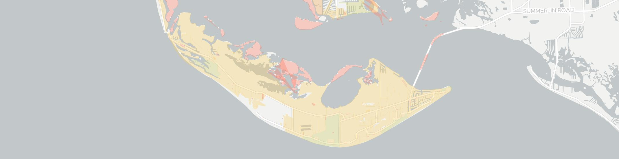Sanibel Internet Competition Map. Click for interactive map.