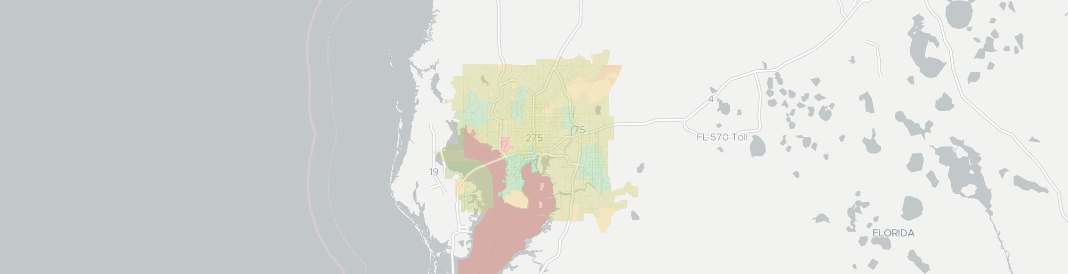 Tampa Internet Competition Map. Click for interactive map.