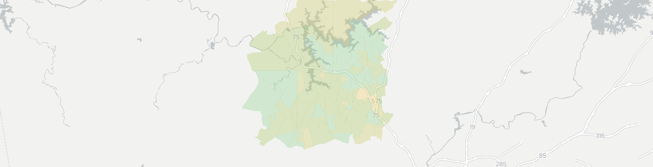 Acworth Internet Competition Map. Click for interactive map.
