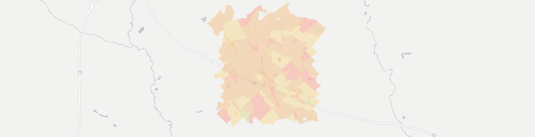 Danville Internet Competition Map. Click for interactive map.