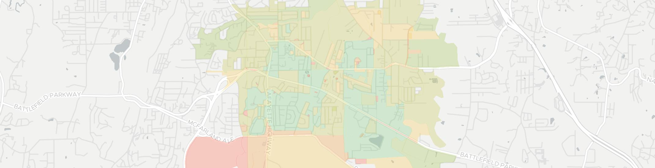 Fort Oglethorpe Internet Competition Map. Click for interactive map.