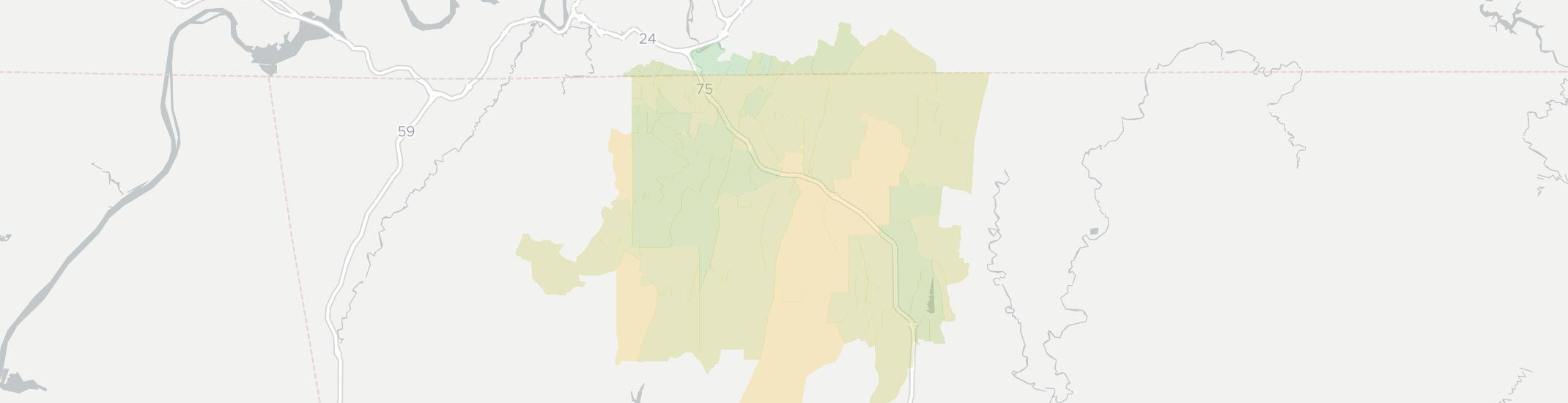 Ringgold Internet Competition Map. Click for interactive map.