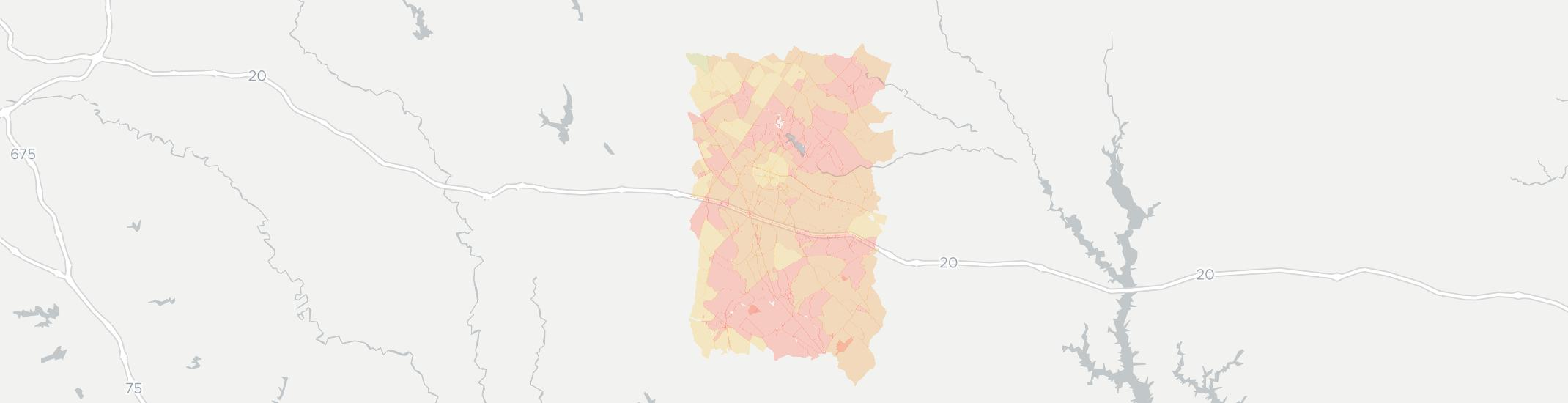 Rutledge Internet Competition Map. Click for interactive map.