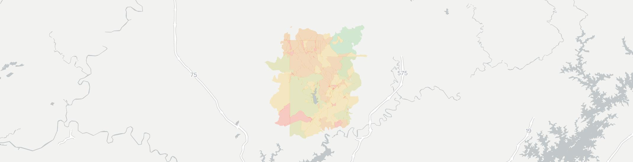 Waleska Internet Competition Map. Click for interactive map.