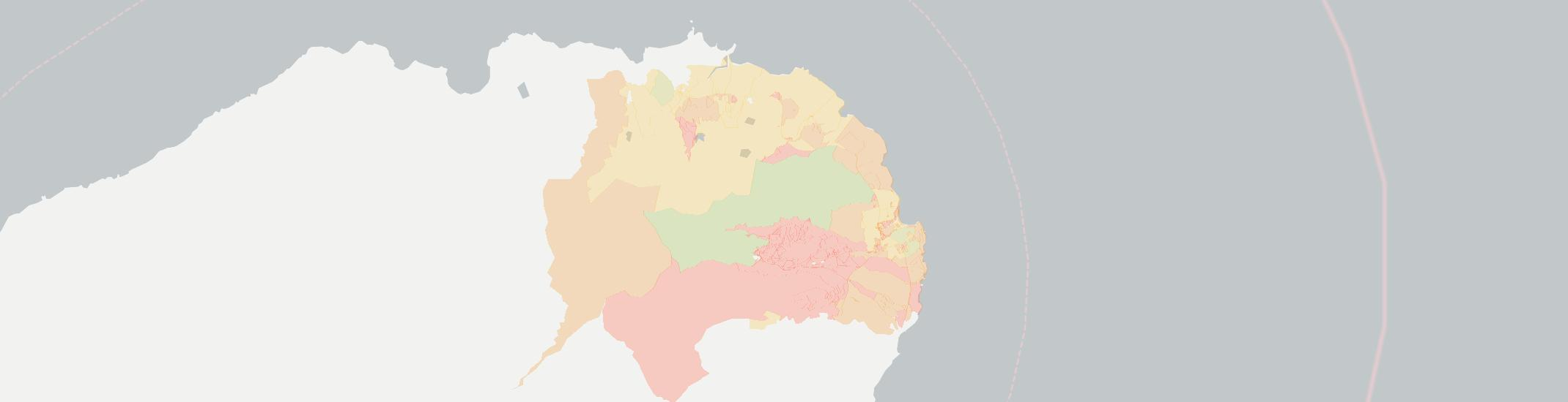 Anahola Internet Competition Map. Click for interactive map.