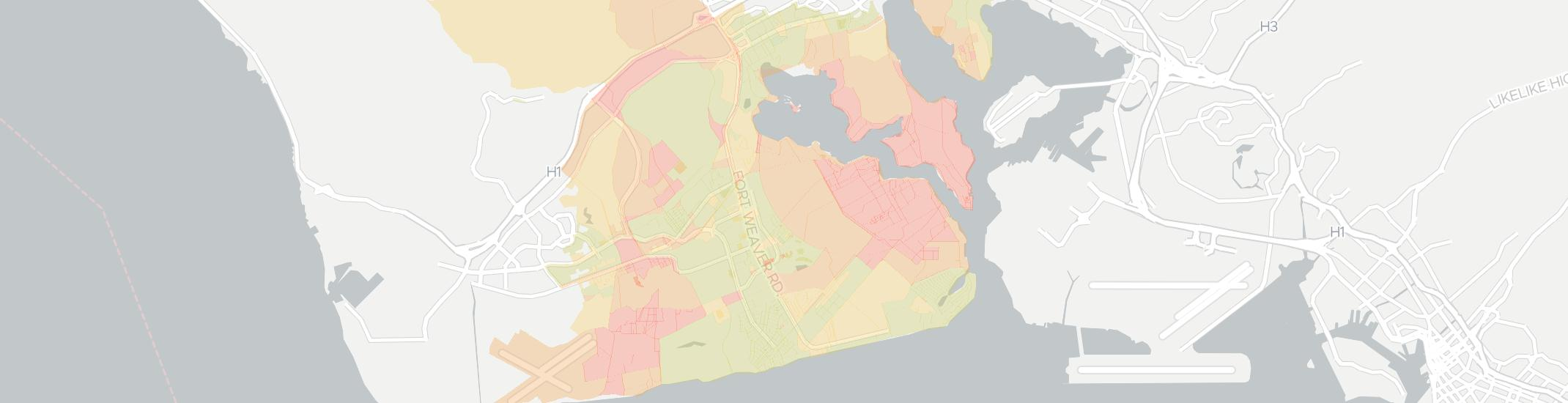 Ewa Beach Internet Competition Map. Click for interactive map.