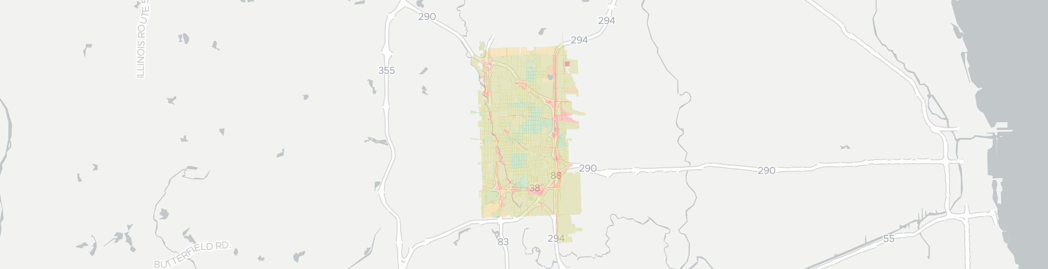 Elmhurst Internet Competition Map. Click for interactive map.