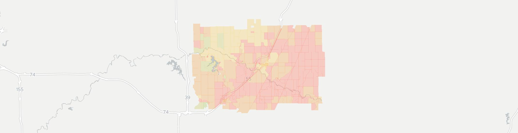Lexington Internet Competition Map. Click for interactive map.