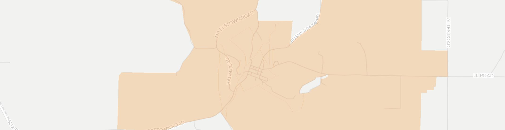 Maeystown Internet Competition Map. Click for interactive map.