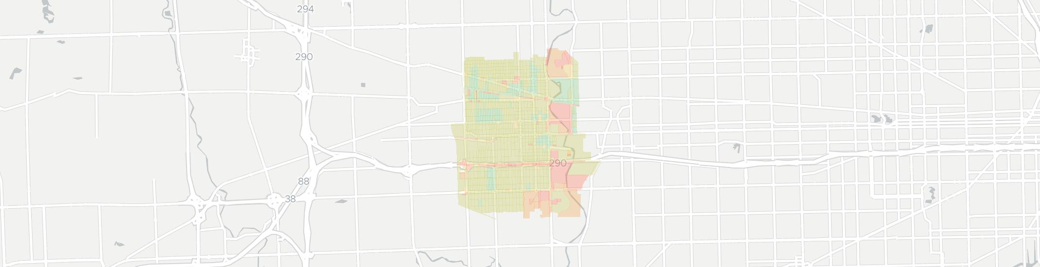 Maywood Internet Competition Map. Click for interactive map.