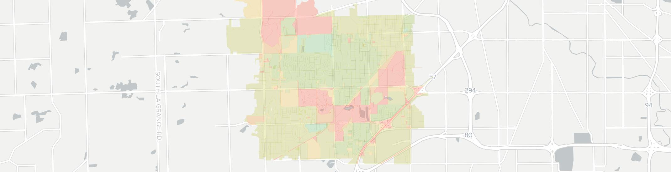 Oak Forest Internet Competition Map. Click for interactive map.