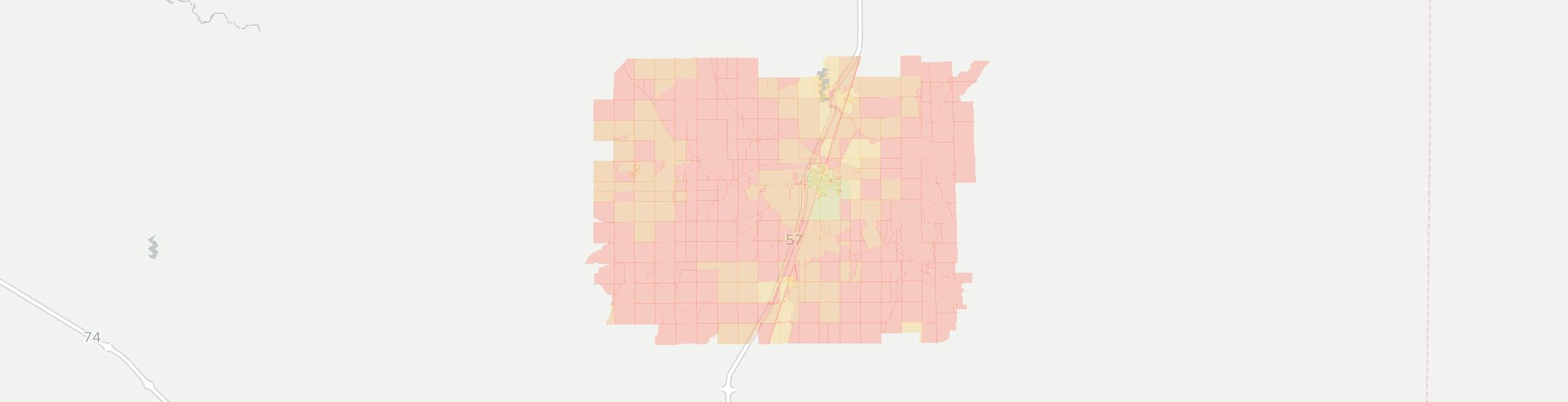 Paxton Internet Competition Map. Click for interactive map.