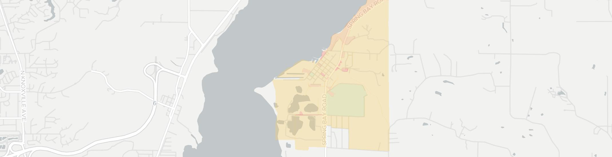 Spring Bay Internet Competition Map. Click for interactive map.