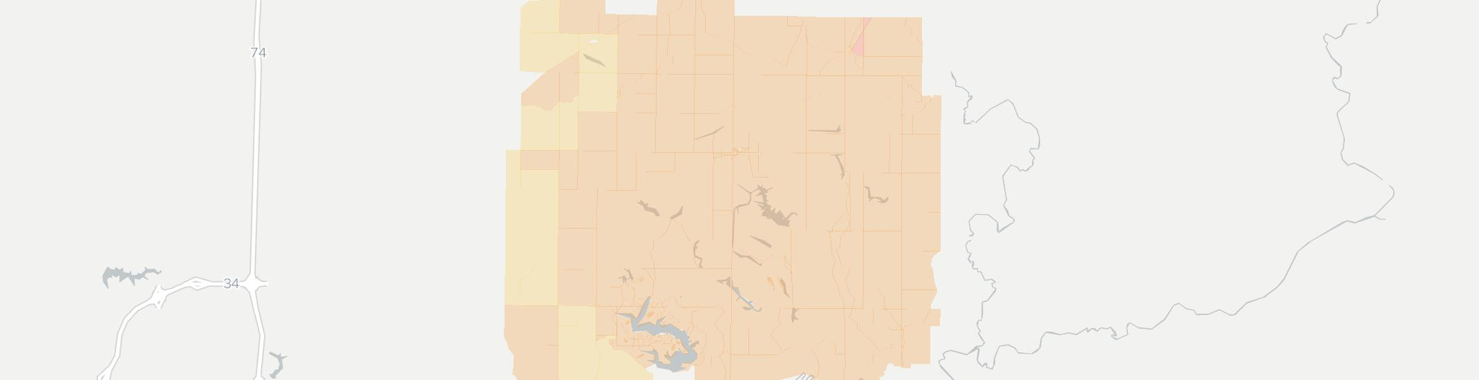 Victoria Internet Competition Map. Click for interactive map.