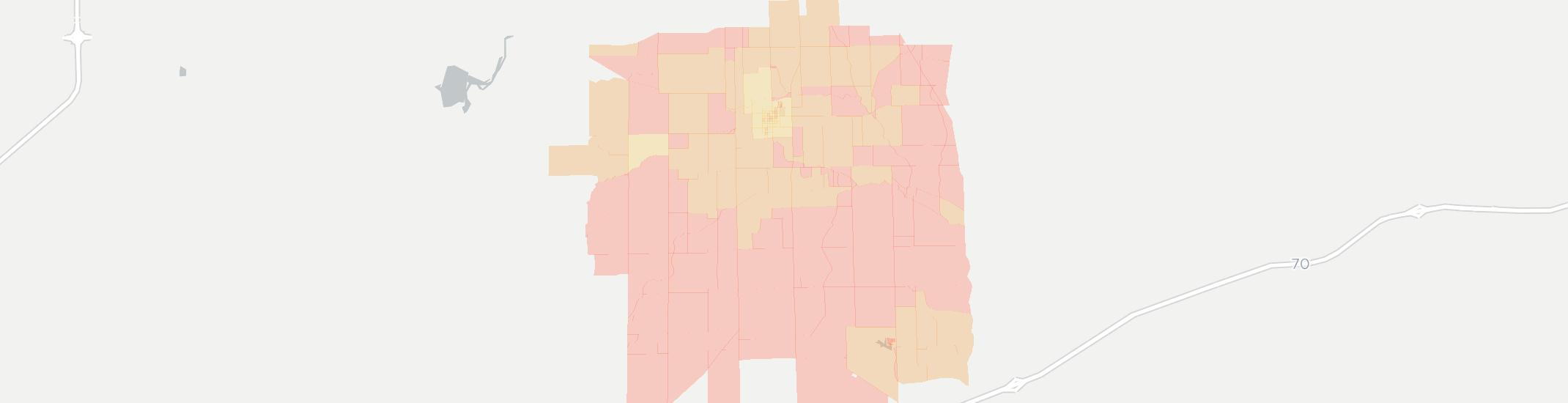 Westfield Internet Competition Map. Click for interactive map.