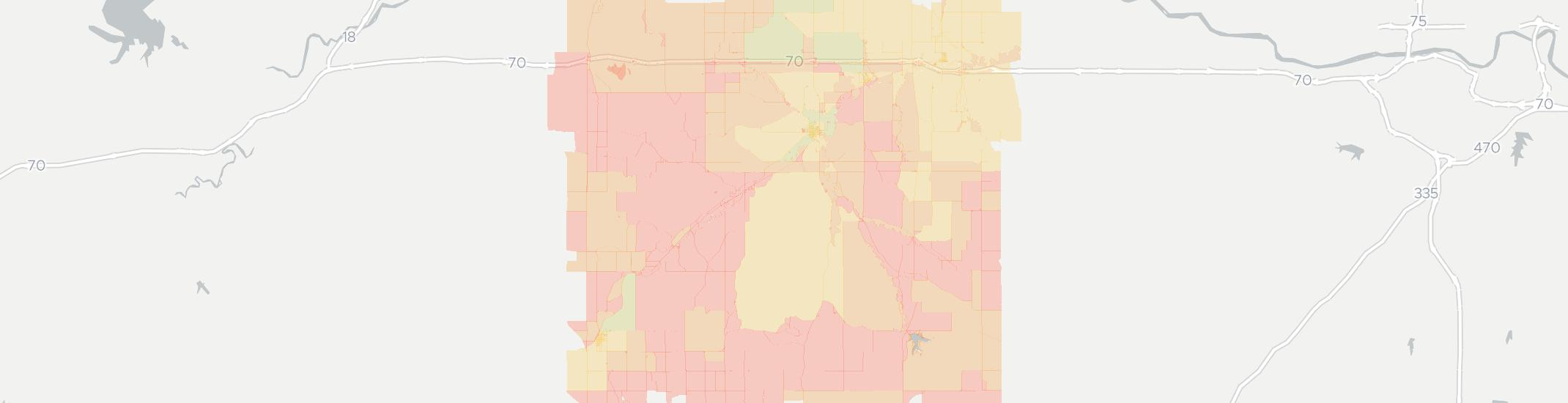 Alma Internet Competition Map. Click for interactive map.