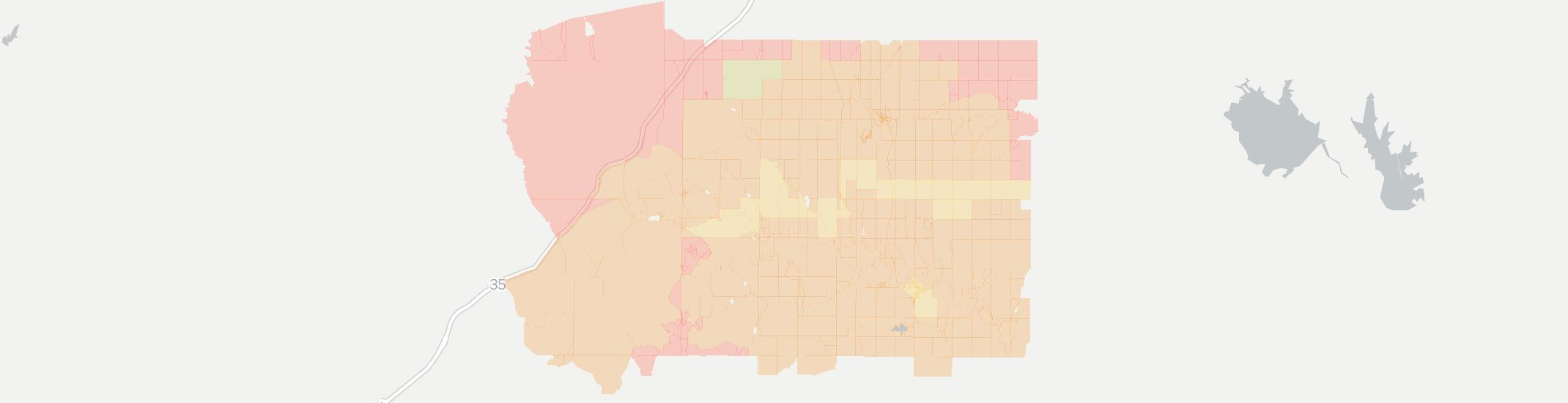 Olpe Internet Competition Map. Click for interactive map.