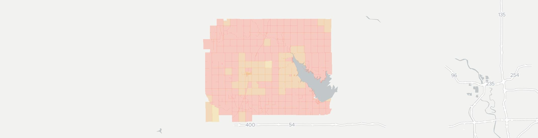 Pretty Prairie Internet Competition Map. Click for interactive map.