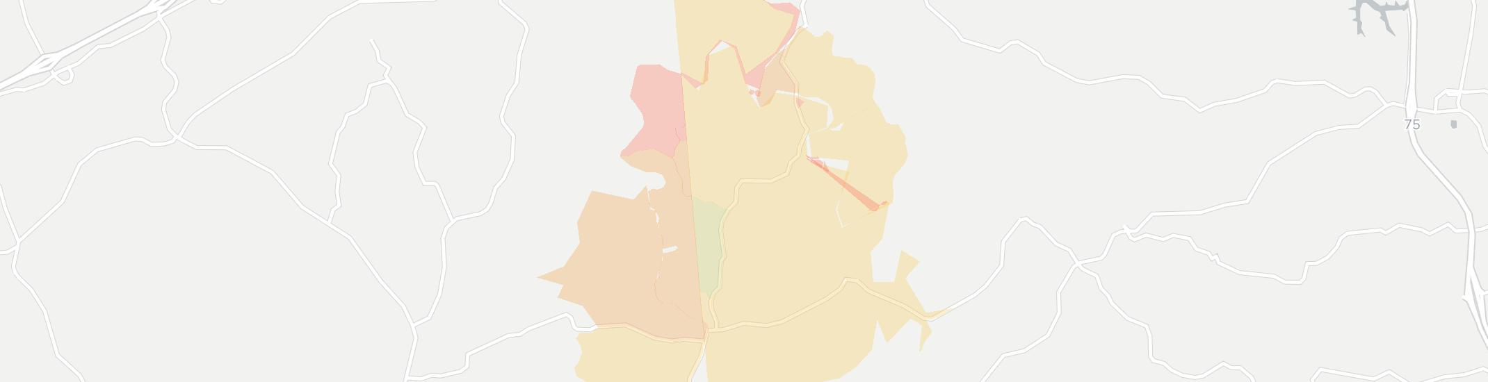 Jonesville Internet Competition Map. Click for interactive map.