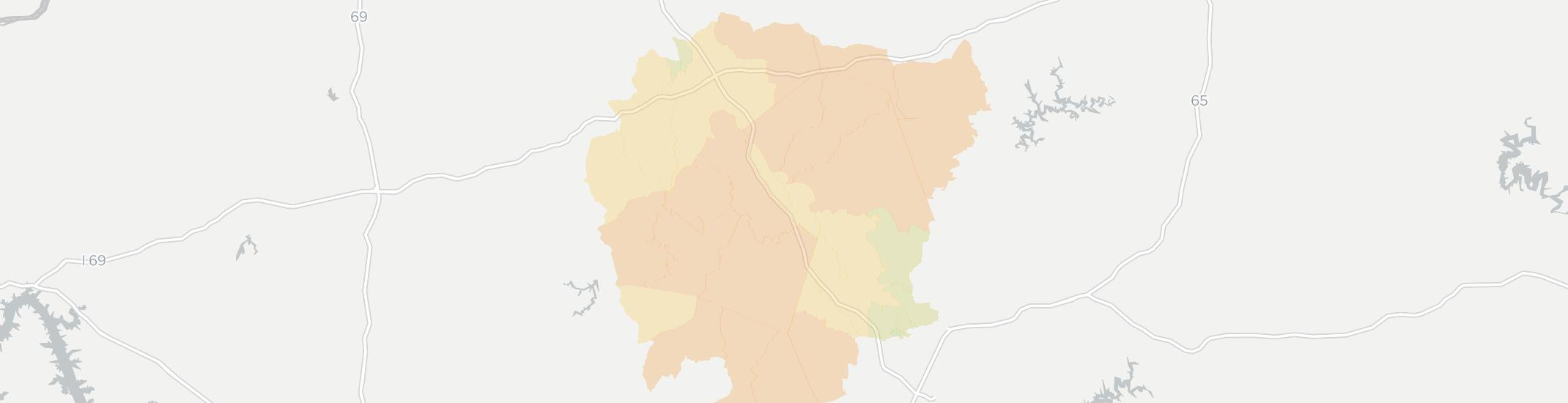Morgantown Internet Competition Map. Click for interactive map.