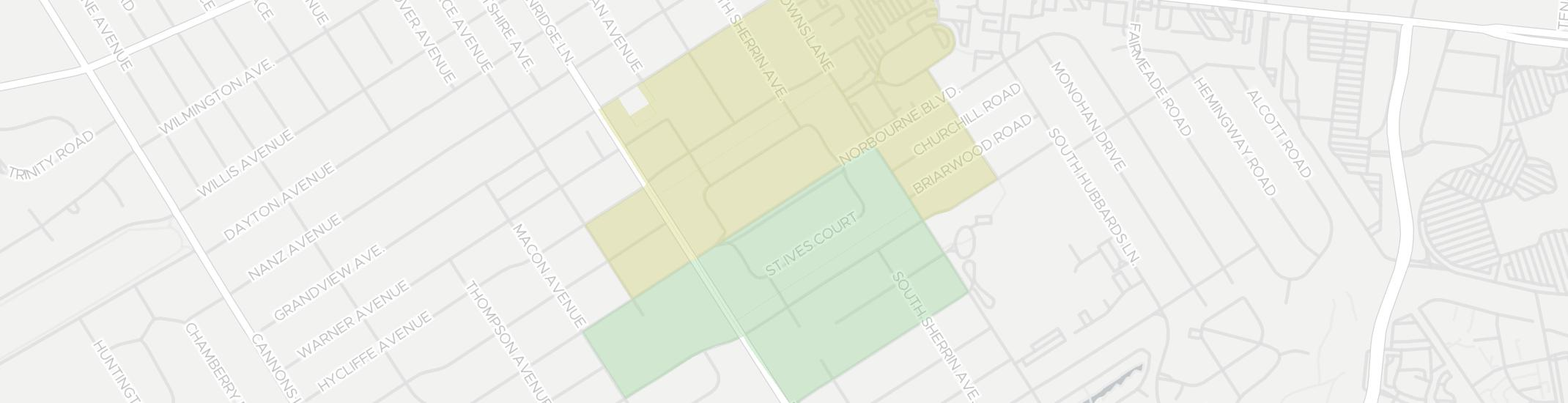 Norbourne Estates Internet Competition Map. Click for interactive map.