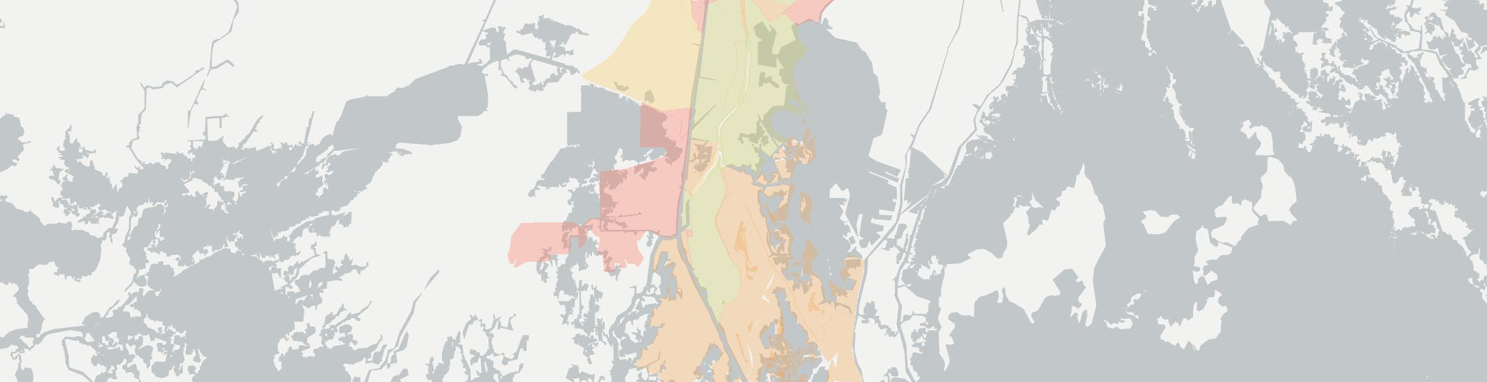 Dulac Internet Competition Map. Click for interactive map.