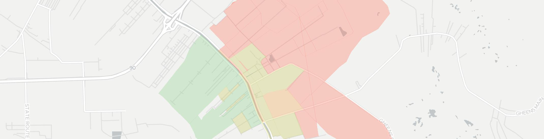 Mathews Internet Competition Map. Click for interactive map.