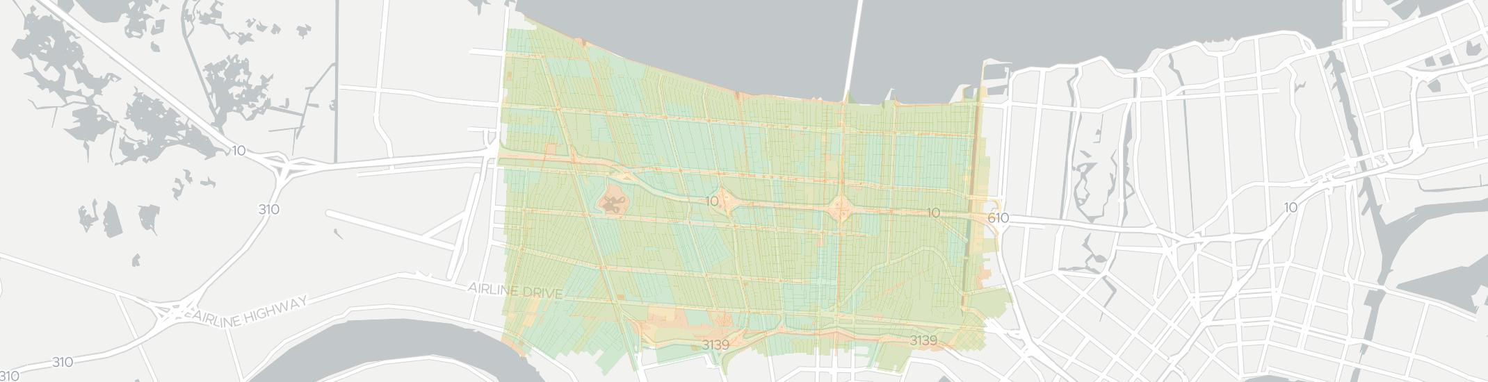 Metairie Internet Competition Map. Click for interactive map.
