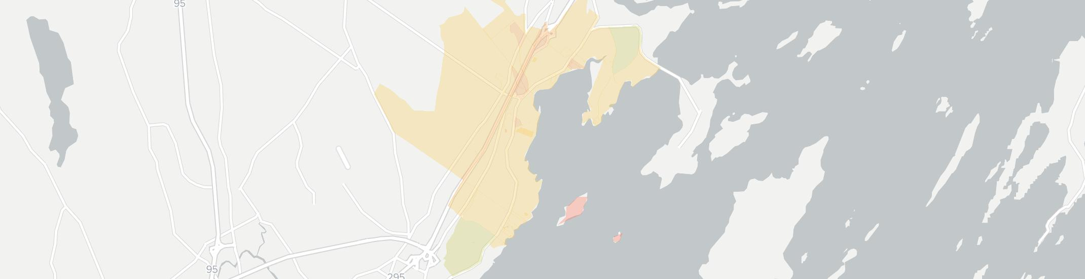 Cumberland Foreside Internet Competition Map. Click for interactive map.