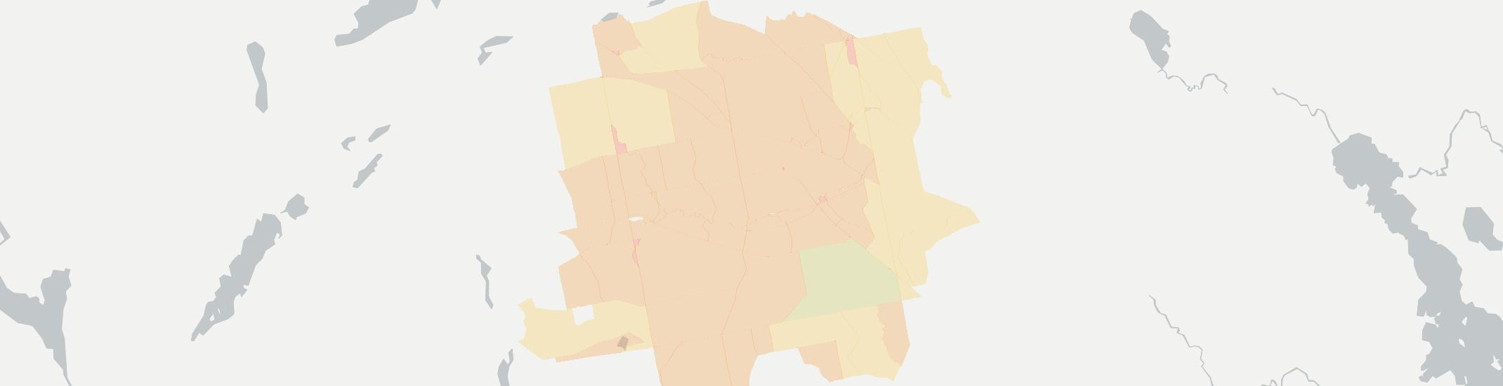 Exeter Internet Competition Map. Click for interactive map.