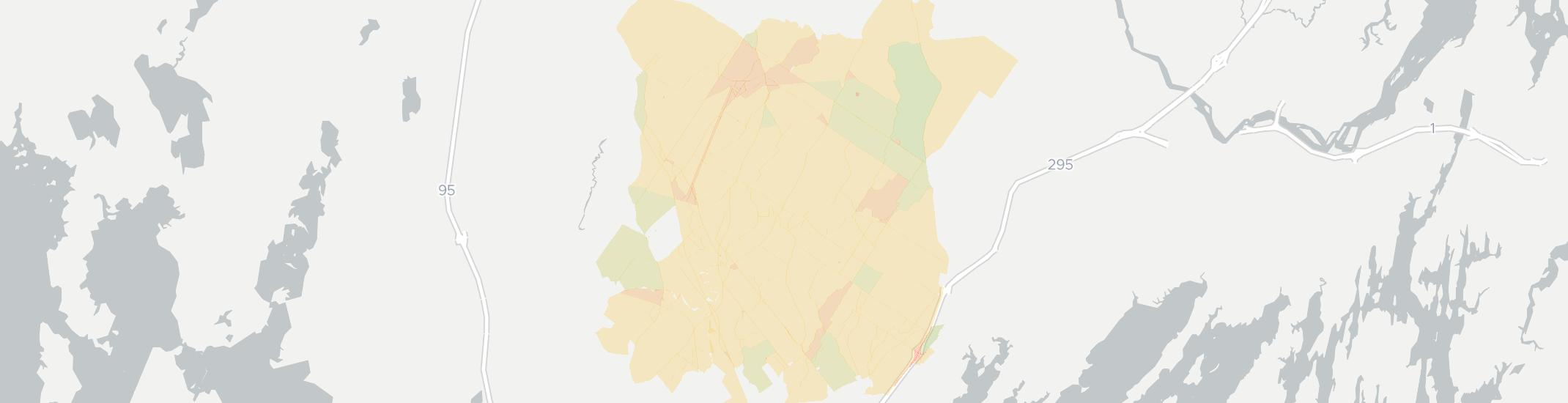 Pownal Internet Competition Map. Click for interactive map.