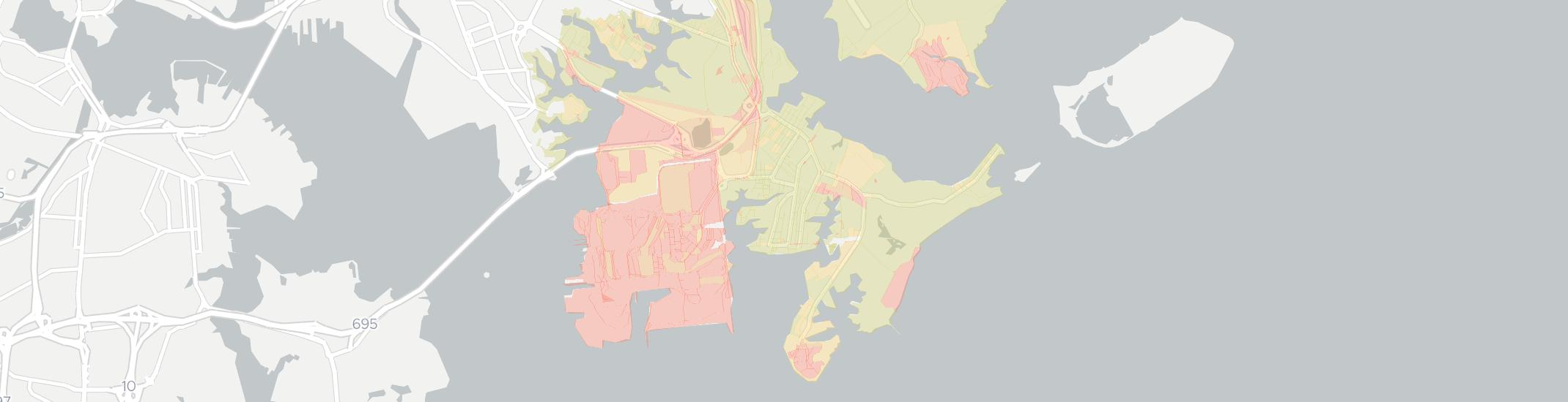 Edgemere Internet Competition Map. Click for interactive map.