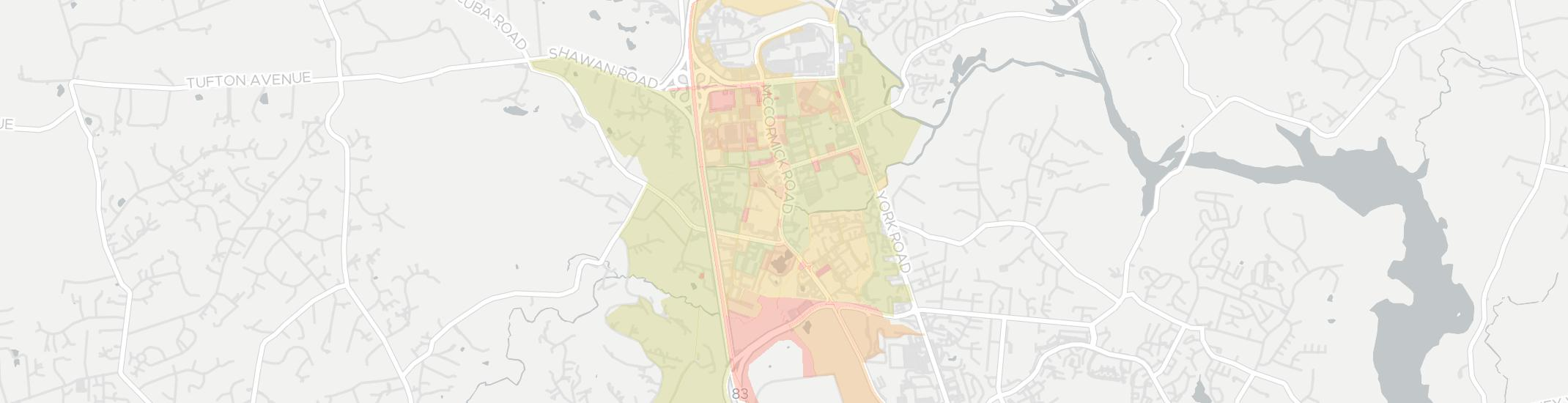 Hunt Valley Internet Competition Map. Click for interactive map.