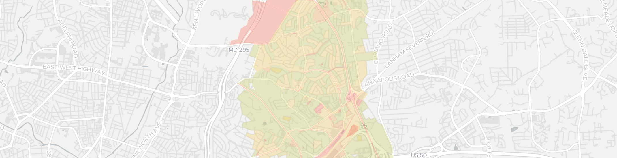 New Carrollton Internet Competition Map. Click for interactive map.