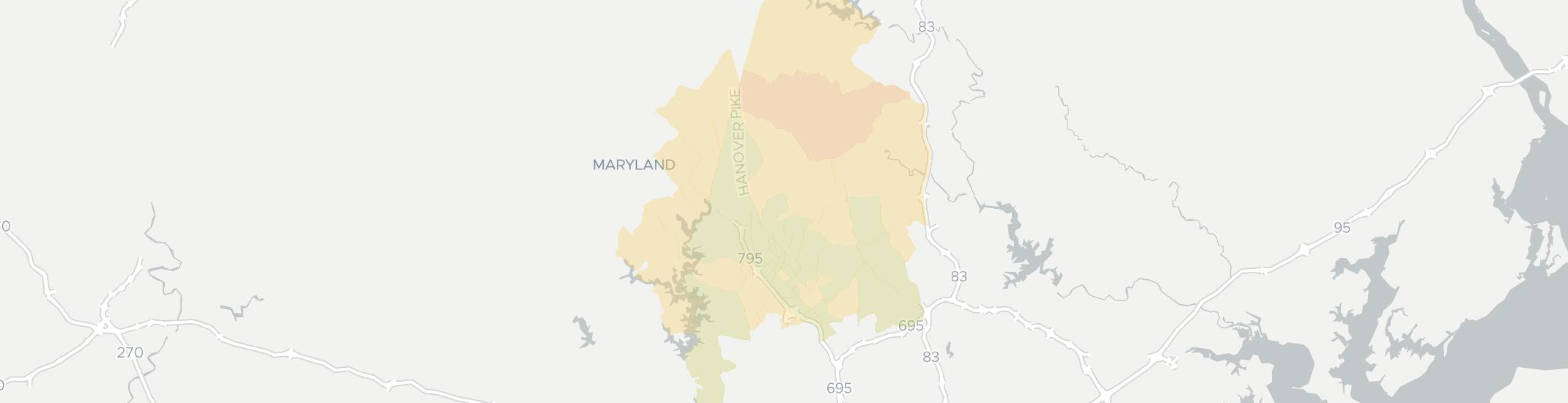 Reisterstown Internet Competition Map. Click for interactive map.