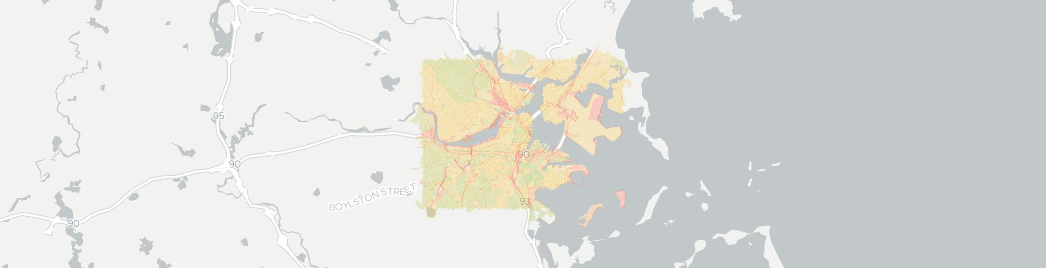Boston Internet Competition Map. Click for interactive map.