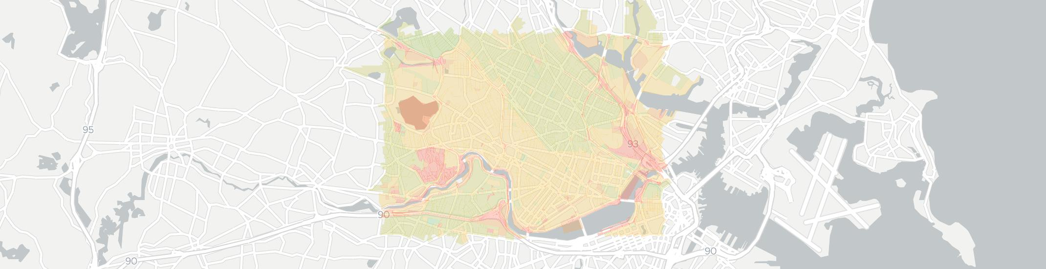 Cambridge Internet Competition Map. Click for interactive map.
