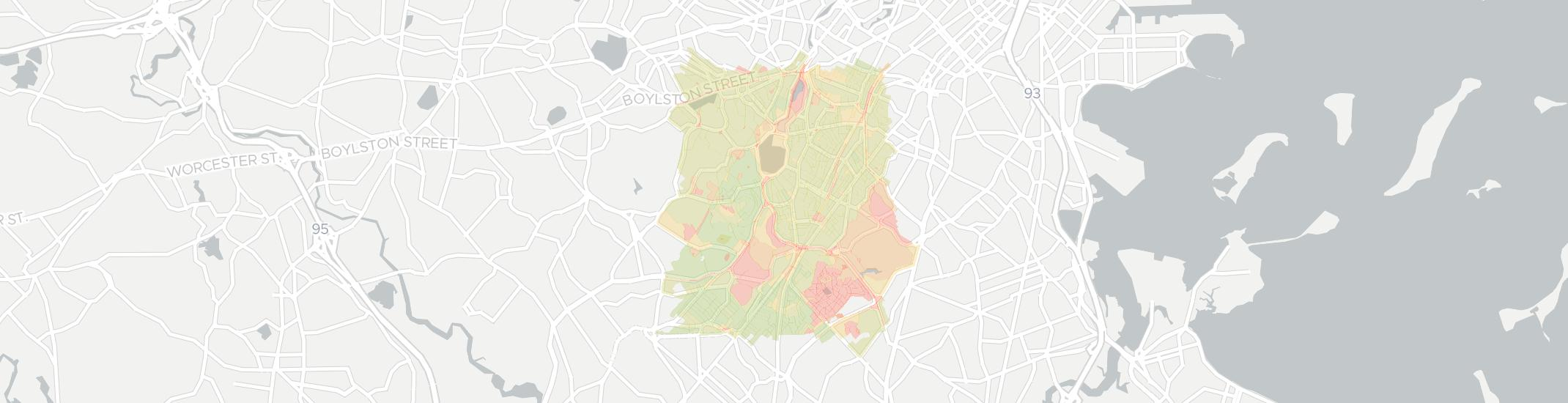Jamaica Plain Internet Competition Map. Click for interactive map.