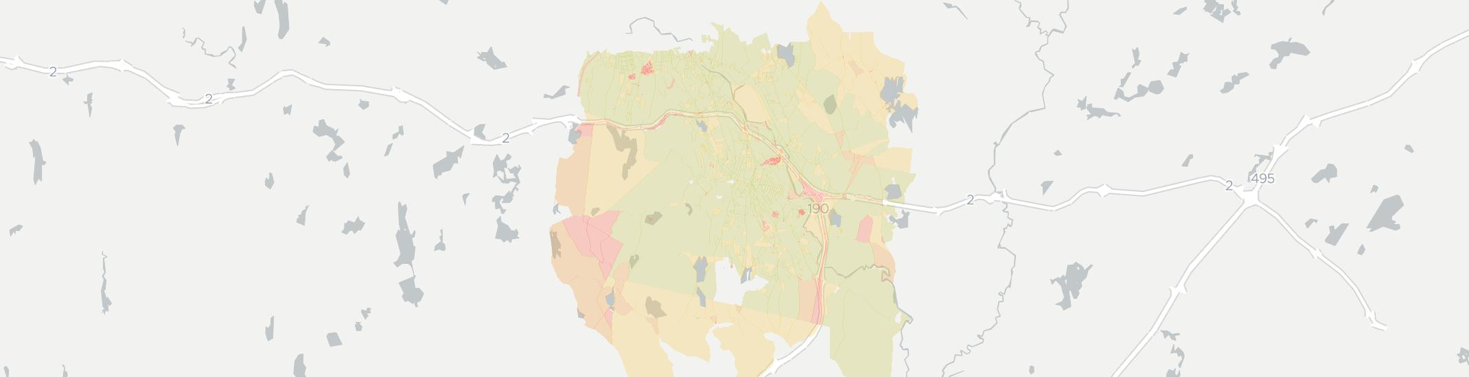 Leominster Internet Competition Map. Click for interactive map.