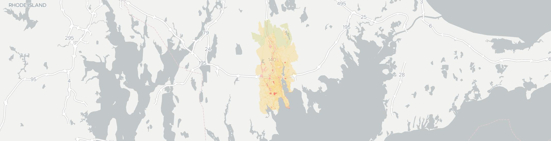 New Bedford Internet Competition Map. Click for interactive map.