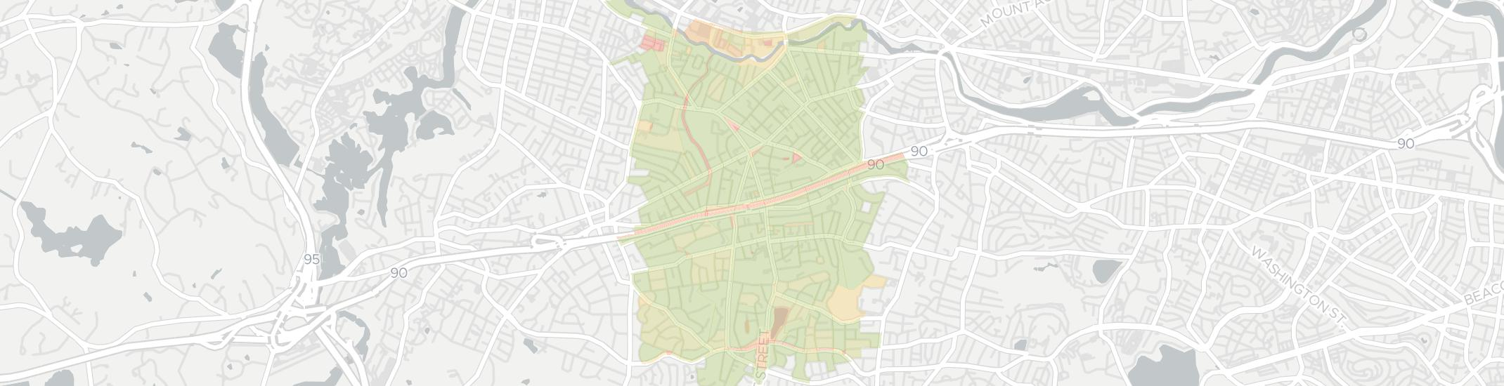 Newtonville Internet Competition Map. Click for interactive map.