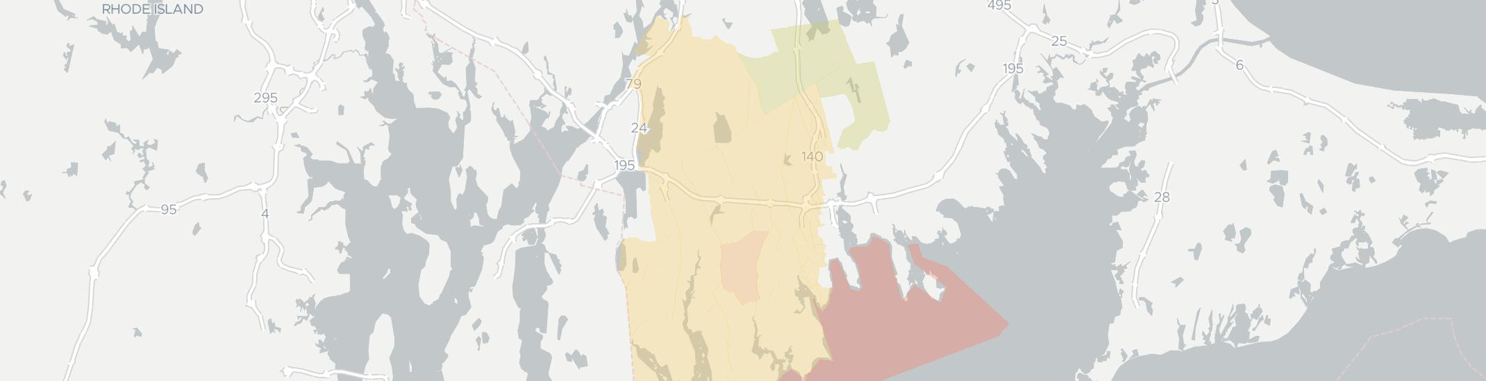 North Dartmouth Internet Competition Map. Click for interactive map.