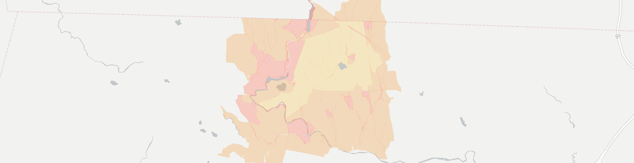 Rowe Internet Competition Map. Click for interactive map.