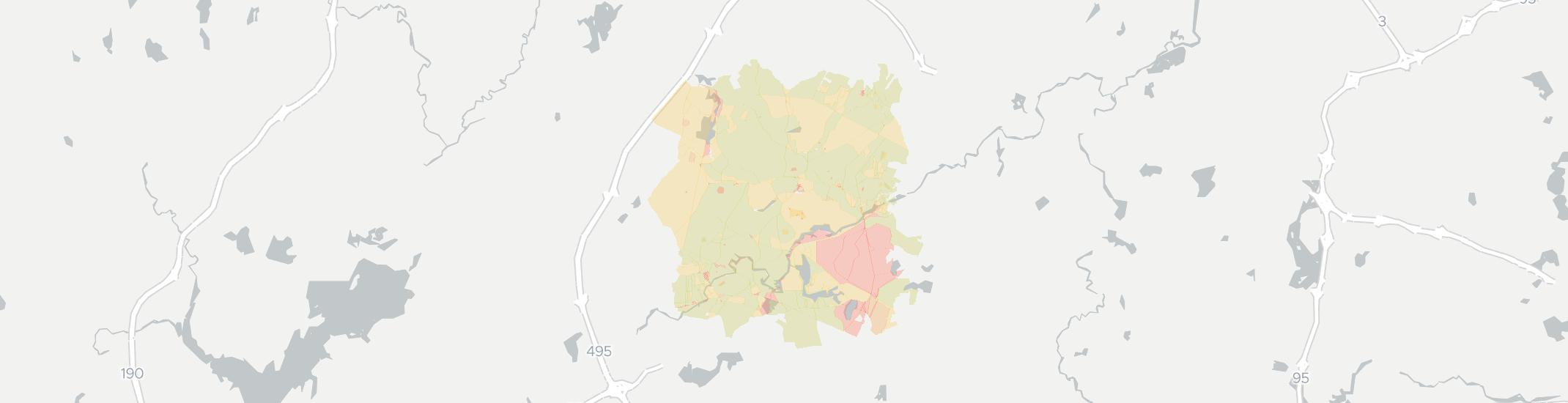 Stow Internet Competition Map. Click for interactive map.