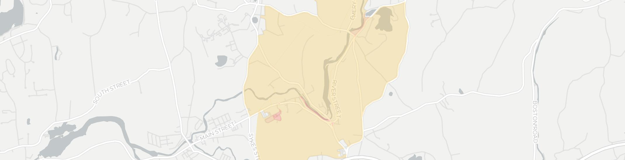Thorndike Internet Competition Map. Click for interactive map.