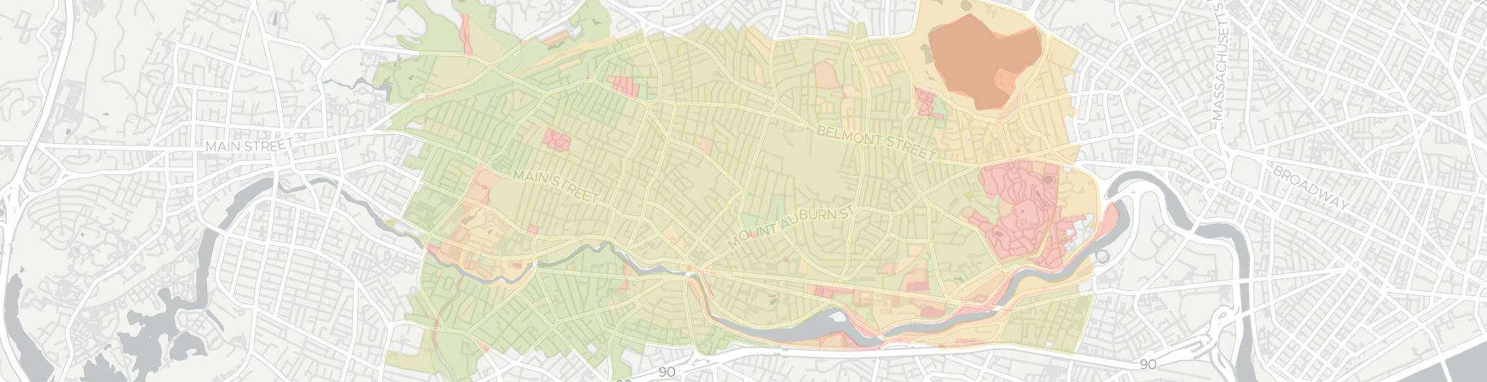 Watertown Internet Competition Map. Click for interactive map.